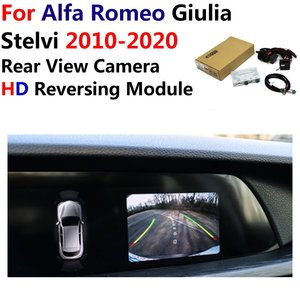 Image 1 - Araba ters dikiz kamera Alfa Romeo Giulia/Stelvi 2010 ~ 2019 2020 orijinal ekran yükseltme park sistemi kamera dekoder