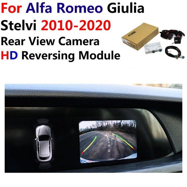 Araba ters dikiz kamera Alfa Romeo Giulia/Stelvi 2010 ~ 2019 2020 orijinal ekran yükseltme park sistemi kamera dekoder