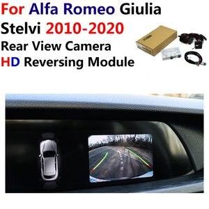 Image 1 - Car Reverse Rear View Camera For Alfa Romeo Giulia/Stelvi 2010~2019 2020 Original Screen Upgrading Paking System Camera Decoder