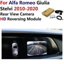רכב הפוך מבט אחורי מצלמה עבור אלפא רומיאו Giulia/Stelvi 2010 ~ 2019 2020 מקורי מסך שדרוג Paking מערכת מצלמה מפענח