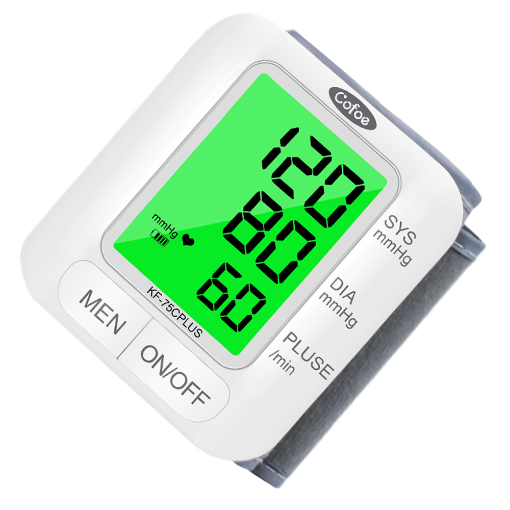 Cofoe Wrist Blood Pressure Monitor upgrade automatic sphygmometer voice three-color backlight heart rate and pulse health care 5