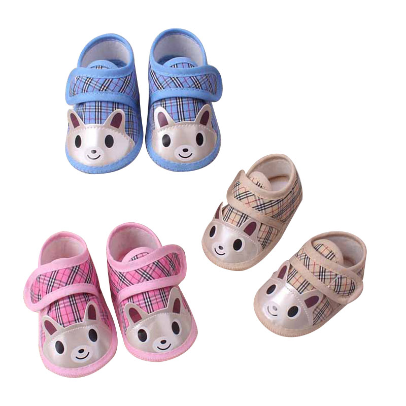 Newborn Baby Shoes Fashion Cute Baby Girls Soft Bottom Gingham Pink First Walkers Toddler Shoes Canvas Sneaker