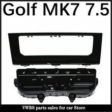 Tela de toque lcd automático ar condicionado painel interruptor automático ac condicionado para vw golf 7 mk7 mk7.5 golf 7.5 golf r