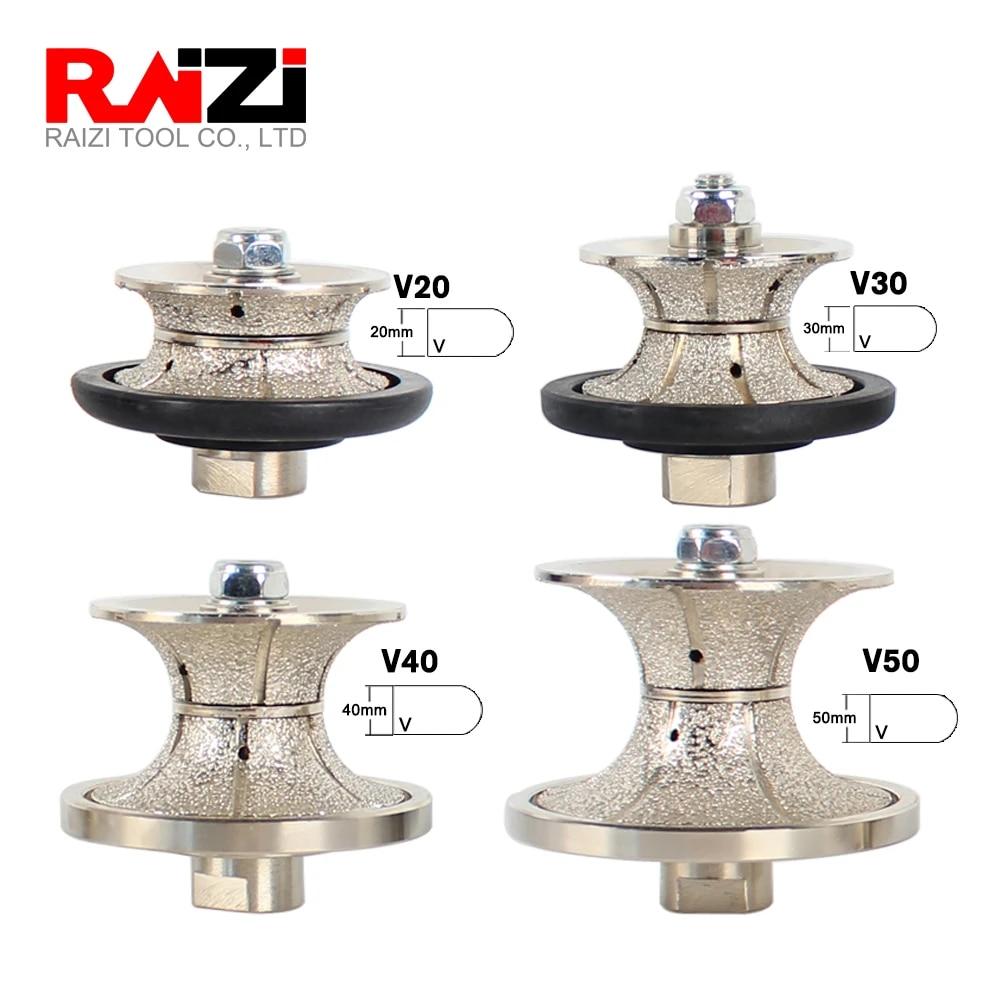 2 50mm V50 Diamond Full Bullnose Router Bit Hand Profiler 5 Dust Shroud Diamond Grinding Cup Granite Concrete Stone Travertine Counter top Tile Edge