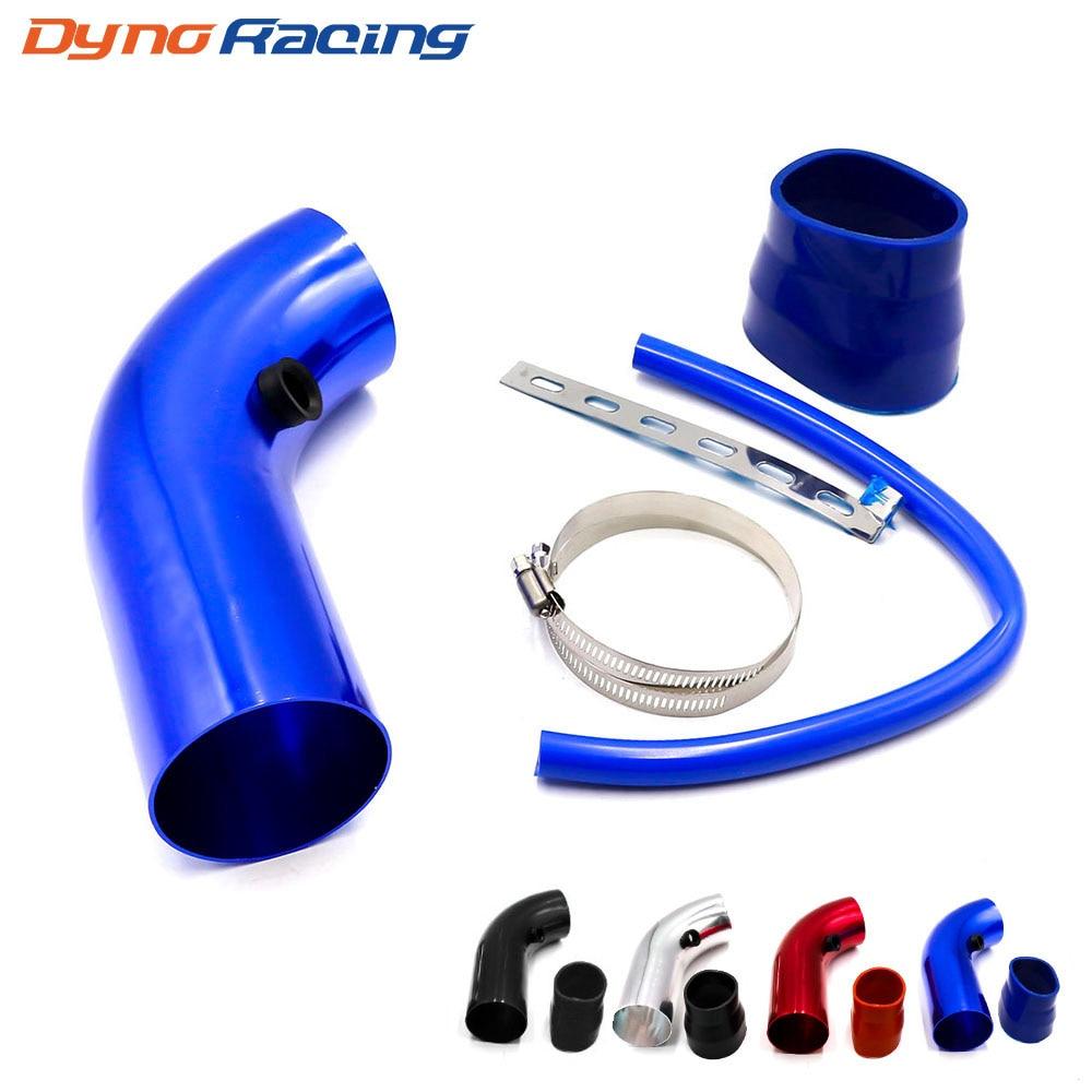 Kit de tubo de entrada de aire Universal para coche, de aluminio, 3 pulgadas, 76mm, sistema de admisión de aire frío, Kit de tubos de conducto, filtro de aire