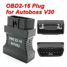 Ana Test OBDII 16pin arayüzü Autoboss V30 Elite araç teşhis tarayıcı 16 Pin obd2 erkek 15PIN bağlantı noktası konektörü adaptörü