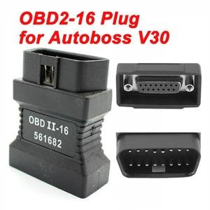 Image 1 - ראשי מבחן OBDII 16pin ממשק עבור Autoboss V30 עלית רכב אבחון סורק 16 פין obd2 זכר 15PIN יציאת מחבר מתאם
