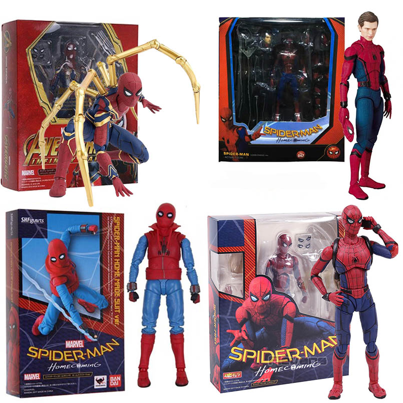 15cm Avengers Super Hero Spider Man PVC Action Figure Toys Homecoming SpiderMan Joint Movable Figure Collectible Model Toys Gift