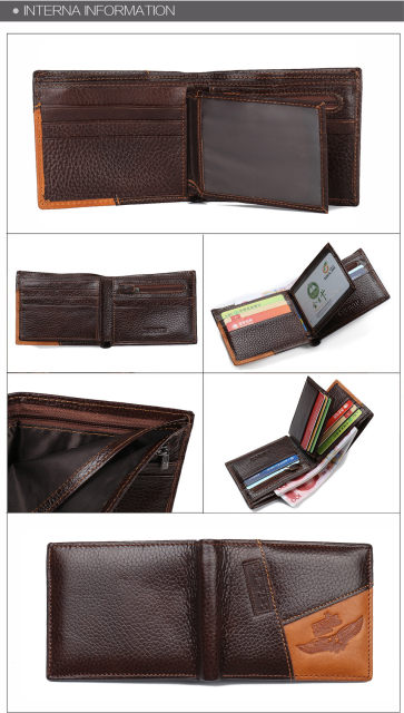 Hfcc3ab8be0904aadbe636da84bb85794H - GUBINTU Genuine Leather Men Wallets Coin Pocket Zipper Real Men's Leather Wallet with Coin High Quality Male Purse cartera