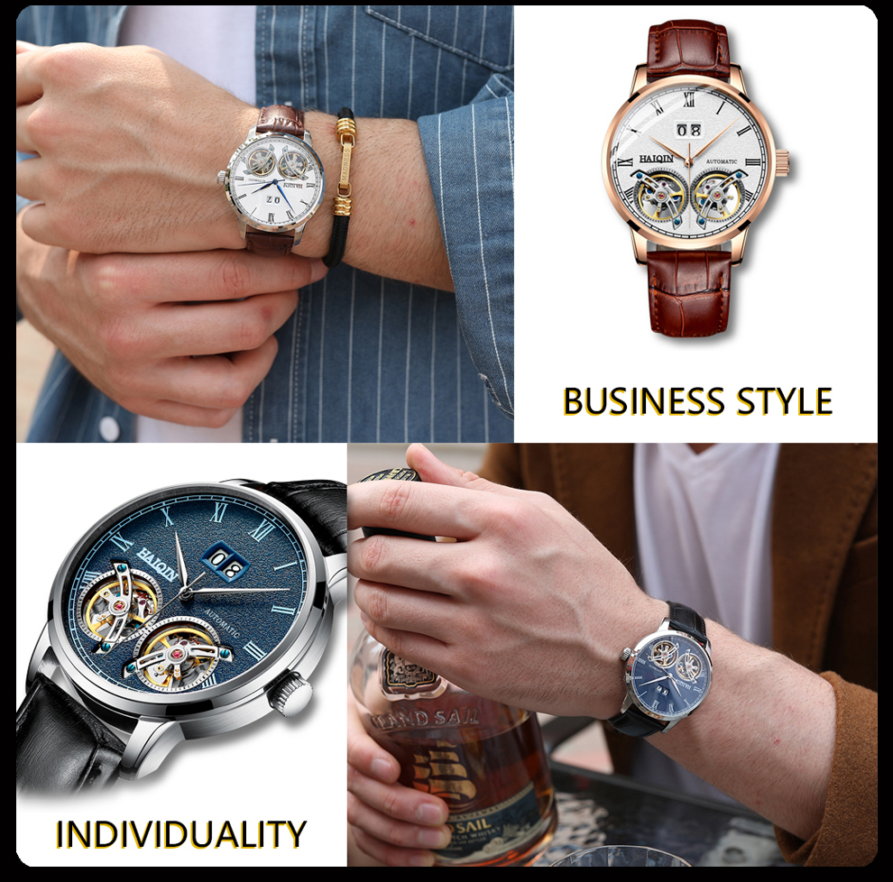 HAIQIN Men's watches Mens Watches top brand luxury Automatic mechanical sport watch men wirstwatch Tourbillon Reloj hombres 2020 Hfcc3be2a17284bd6b361dff936b2f58az