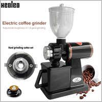 Xeoleo 600N Coffee Mill Macchina Del Caffè Elettrica Smerigliatrice Chicco di Caffè Smerigliatrice Macchina Piatto Sbavature Rettifica Macchina 220V Rosso/ nero