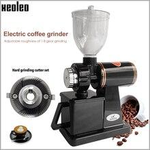 Xeoleo Elektrische Koffiemolen 600N Koffie Molen Machine Koffieboon Grinder Machine Platte Bramen Slijpmachine 220V Rood/zwart