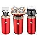 Afeitadora eléctrica recargable 5 en 1 4D para hombre 5 cabezas flotantes barba oreja recortadora de pelo afeitadora Facial Brus