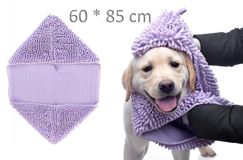 Cute Pet Dog Cat Towel Pets Drying Bath Towels with Hoodies Warm Blanket Soft Drying Cartoon Puppy Super Absorbent Bathrobes 16