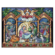 цены 5d Diy diamante pintura religiosa completa taladro mosaico diamante bordado vitral Natividad dibujos animados punto de cruz deco