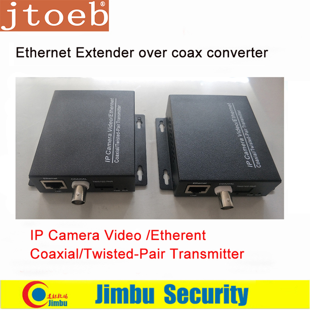 Ethernet Extender over coax converter 2KM for IP cameras Video / Ethernrt Coaxial / Twisted Pair T