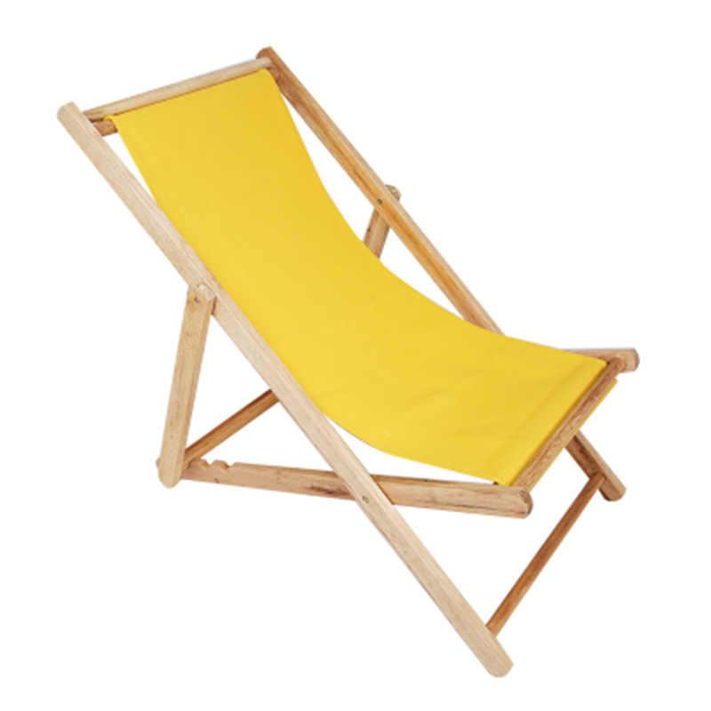 chaise de plage pliante portable en bois massif chaise longue d exterieur sans oreiller