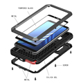 Ударопрочный чехол для Samsung Galaxy A8 2018  металлические Чехлы для Samsung A8 Plus 2018  защитный чехол для телефона  Прочный чехол с защитой от падения