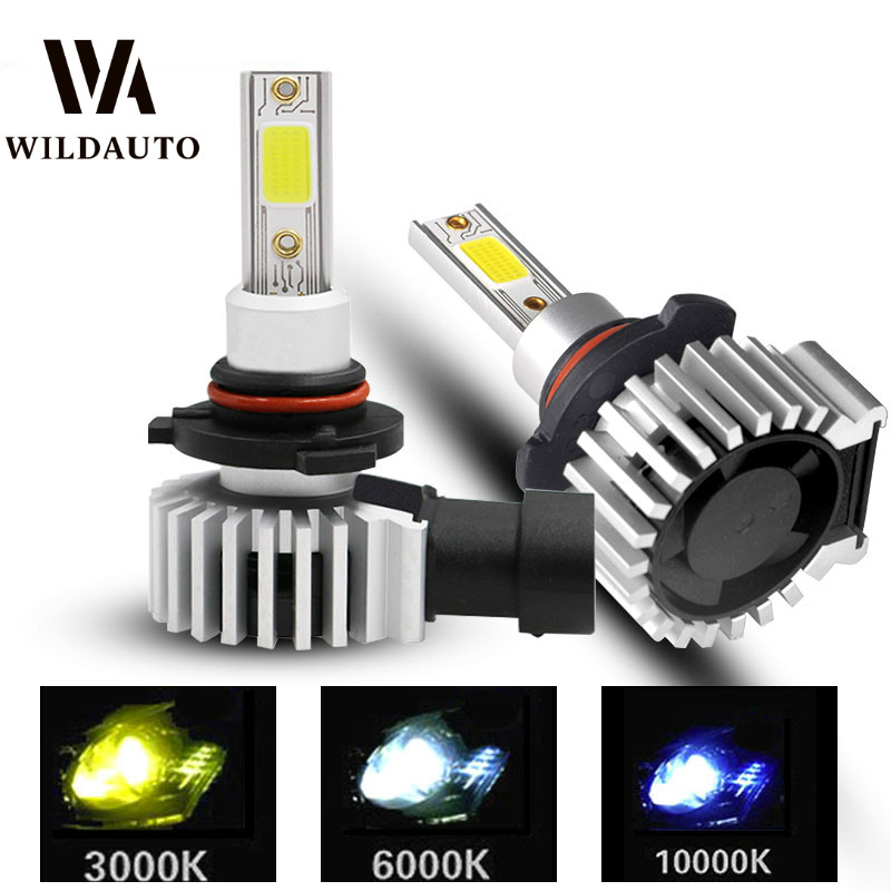 WILDAUTO 2pcs <font><b>H4</b></font> H1 H3 H7 H11 H8 H9 9005 HB3 9006 HB4 <font><b>Led</b></font> Headlight Bulbs 72W 8000LM Car Styling 6000K <font><b>10000K</b></font> <font><b>Led</b></font> Automobile image