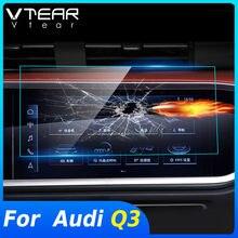 Vdéchirure – accessoires de Navigation GPS pour Audi Q3 2020 2019, Film de protection d'écran en verre trempé, Modification intérieure, autocollant HD
