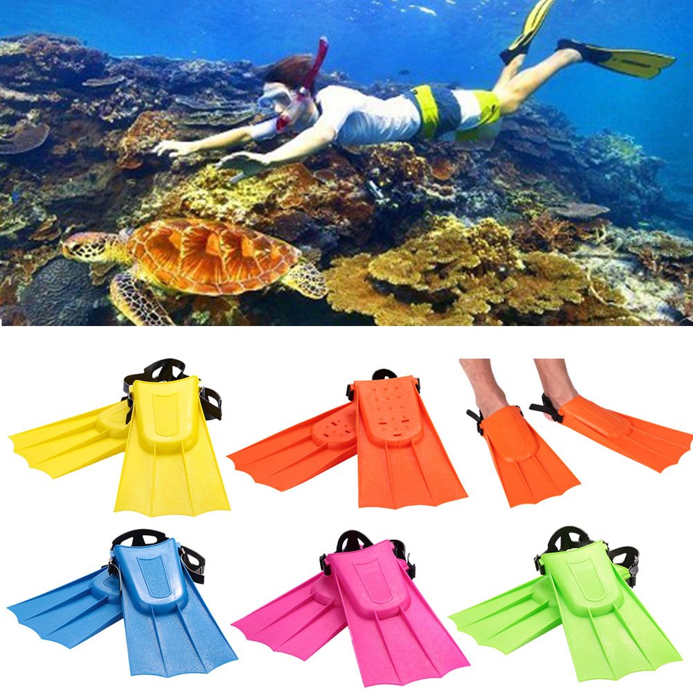 1Pair Diving Fins Swimming Hunting Underwater Flippers Child Flipper ABS Short