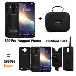 Модульный усиленный мобильный телефон DOOGEE S90 Pro, Helio P70 восемь ядер, 6 ГБ 128 ГБ, экран 6,18 дюйма, 12 В, 2 А, 5050 мАч, телефон на базе Android 9,0, NFC