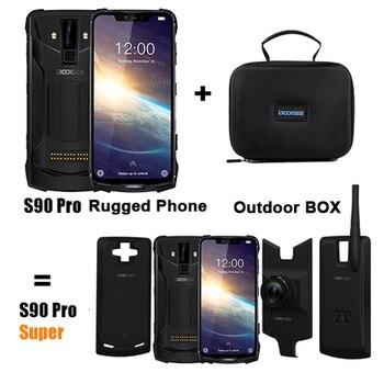 Перейти на Алиэкспресс и купить Модульный усиленный мобильный телефон DOOGEE S90 Pro, Helio P70 восемь ядер, 6 ГБ 128 ГБ, экран 6,18 дюйма, 12 В, 2 А, 5050 мАч, телефон на базе Android 9,0, NFC