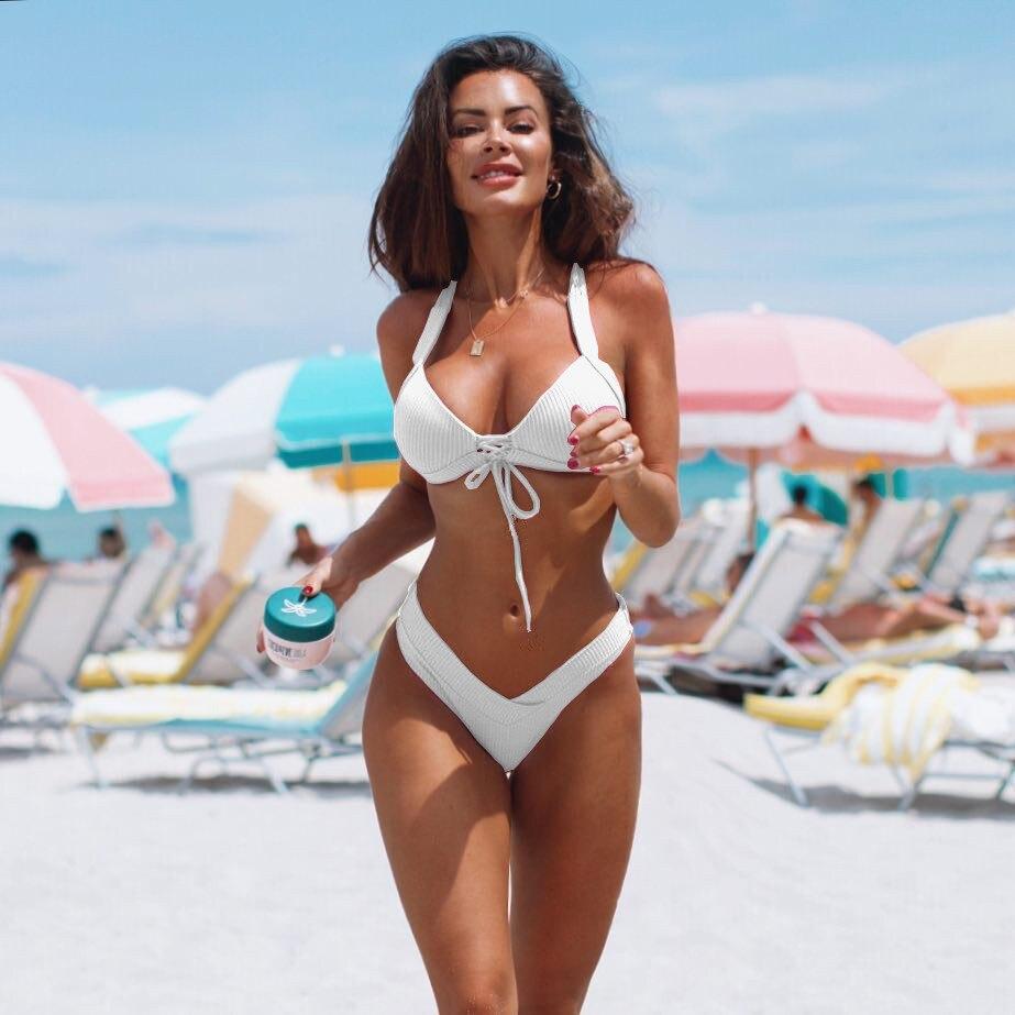 2020 Sexy High Waist Bikini Women Swimwear Push Up Swimsuit Brazilian Bikini Set Bathing Suits Summer Beach Wear Swimming Suit