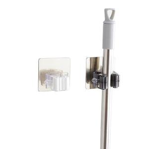 Image 5 - GUANYAO Adhesive Multi Purpose Hooks Wall Mounted Mop Organizer Holder RackBrush Broom Hanger Hook Kitchen bathroom Strong Hooks