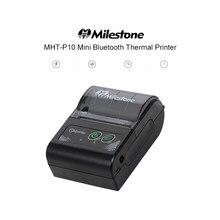 Mini imprimante thermique pour tickets de caisse 58mm, USB + Bluetooth, commande par téléphone, pour Android et IOS, prise EU/US