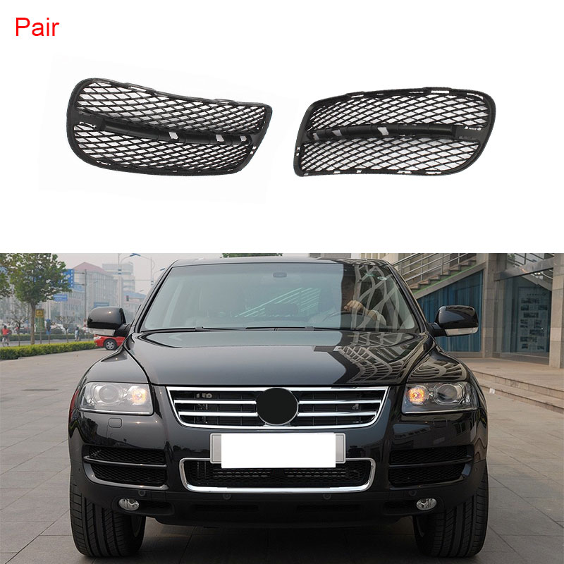 Front Left Right Bumper Lower Radiator Honeycomb Grille For VW Touareg 2003-2007 7L6 853 665A 7L6 853 666A grille