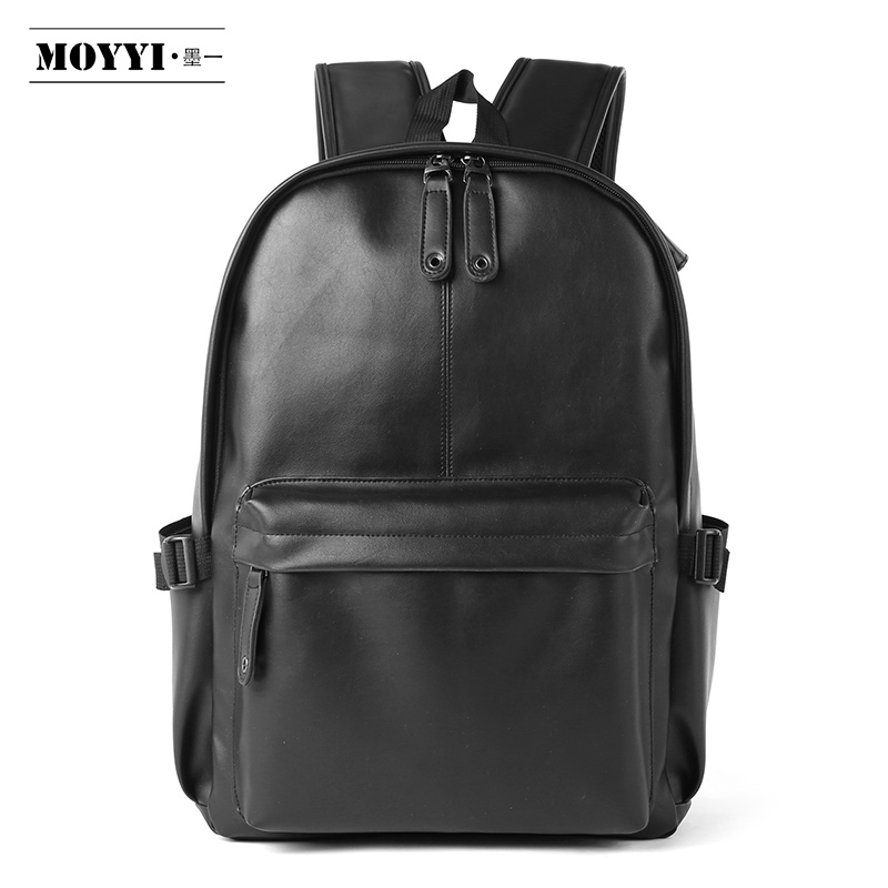 MOYYI New 2019 Men Backpack Leather Fashion Waterproof Bag Male Casual Travel Leather Backpack