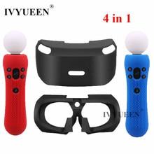 Ivyueen Voor Sony Psvr Glas Beschermende Siliconen Skin Case Voor Playstation Ps Vr Move Motion Controller Headset Cover Tweede