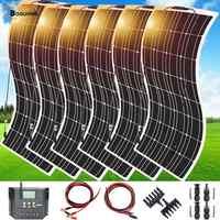 600w 6*100w Solar Panel Mono Solar Batterie Ladegerät mit 5 V/12 V/24 V 60A Regler Controller für Auto Yacht Batterie Boot RV Hause