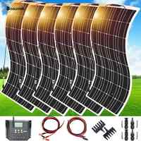 600w 6*100w Solar Panel Mono Solar Battery Charger with 5V/12V/24V 60A Regulator Controller for Car Yacht Battery Boat RV Home