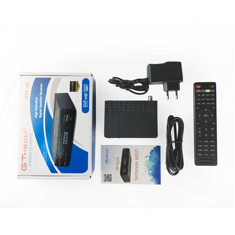 Gtmedia V7S Hd Satellietontvanger Volledige 1080P Met Usb Wifi H.264 DVB-S2 Met Europa Spanje Cccam Tv Decoder Freesat v7 Hd Brazilië