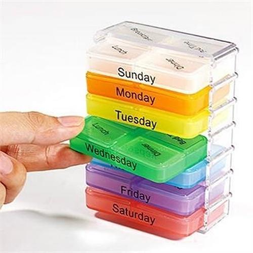 Joylife 7 Days Weekly Travel Medicine Tablet Holder Dispenser Organizer Storage Pill Box Case Container