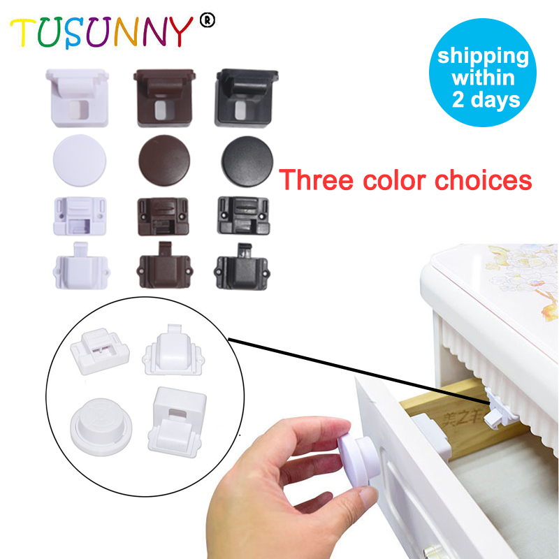 TUSUNNY 8+2/4+1PCS Baby Safety Magnetic Lock From Children Protection Lock Safety Baby Magnetic Cabinet Locks Baby Drawer Lock