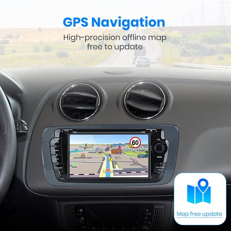 Image 4 - Junsun 2 din Car Radio car dvd player For Seat Ibiza 2009 2010 2011 2012 2013 Android 9.0 GPS navigation 4+64GB Optional-in Car Multimedia Player from Automobiles & Motorcycles