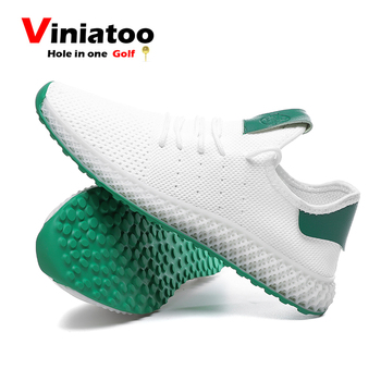 New Breathable Golf Shoes Men White Green Light Weight Golfing Sneakers Outdoor Size 39-45 Autumn Quality Golf Footwear new professional golf shoes men white black waterproof golf sneakers outdoor light weight footwear for men walking shoes