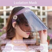Schutz maske Anti Nebel Staubdicht Einstellbar Dental Full Face Schild und Sonnenschirm für frauen auf
