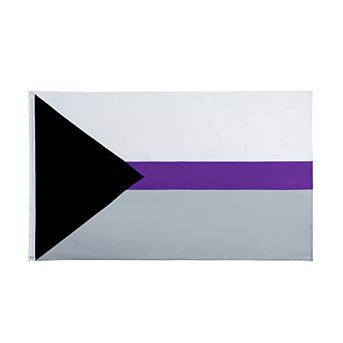 90*150cm LGBTQIA Ace Community Demi Asexuality <font><b>asexual</b></font> <font><b>pride</b></font> demisexual Flag image