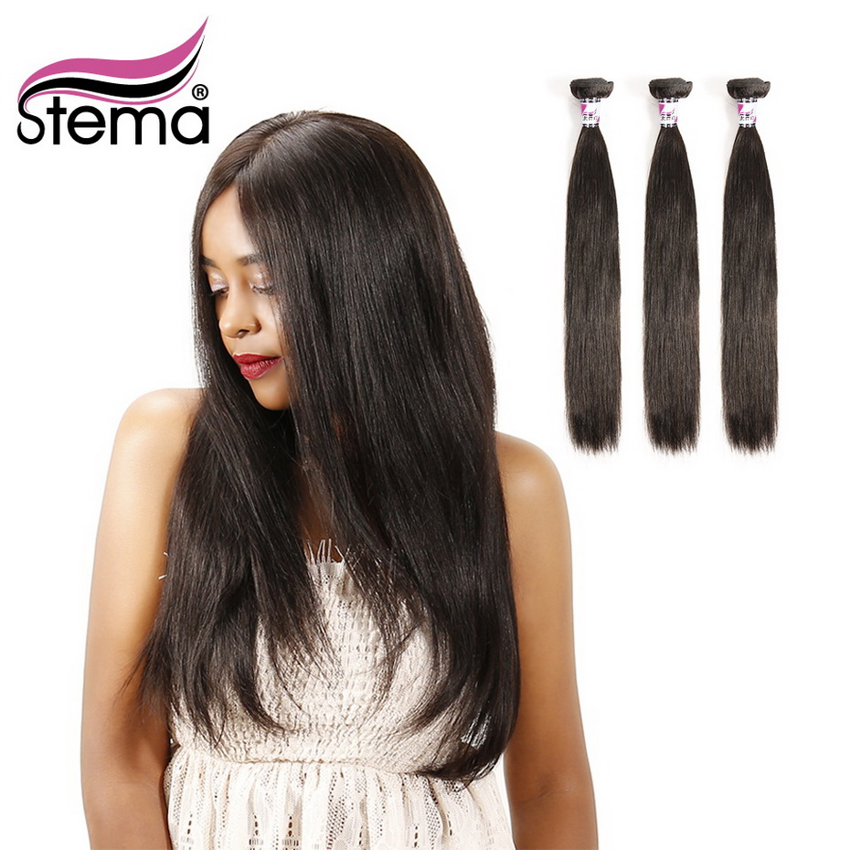 Stema Straight 10-40Inch 1/3/4 Bundles Brazilian Hair Weave Bundles 100% Human Hair Non-Remy Hair Extension Free Shipping