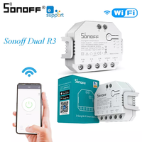 1Pcs SONOFF DUAL R3 스마트 홈 DIY 모듈 eWeLink APP Alexa Google 홈을위한 전력 계량 기능이있는 미니 타이밍 스위치