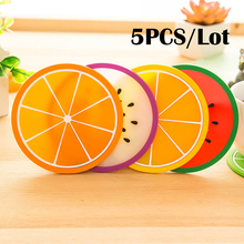 5PCS/lot Silicone cup mat Fruit drink Coffee Mike coaster placemat stand for hot coasters kitchen table mats Pad Slip Holder