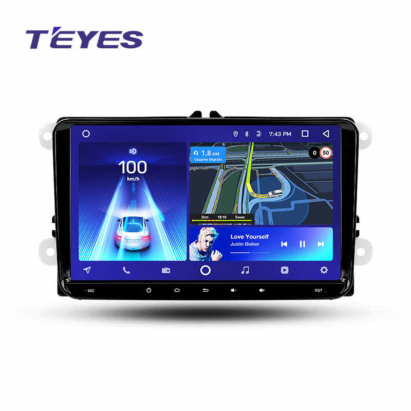 Teyes CC2 Android reproductor Multimedia DVD del coche para VW Volkswagen Golf Polo Tiguan Passat b7 b6 skoda Fabia Octavia Radio GPS