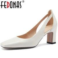 Элегантные женские туфли-лодочки из натуральной кожи на  каблуке 1