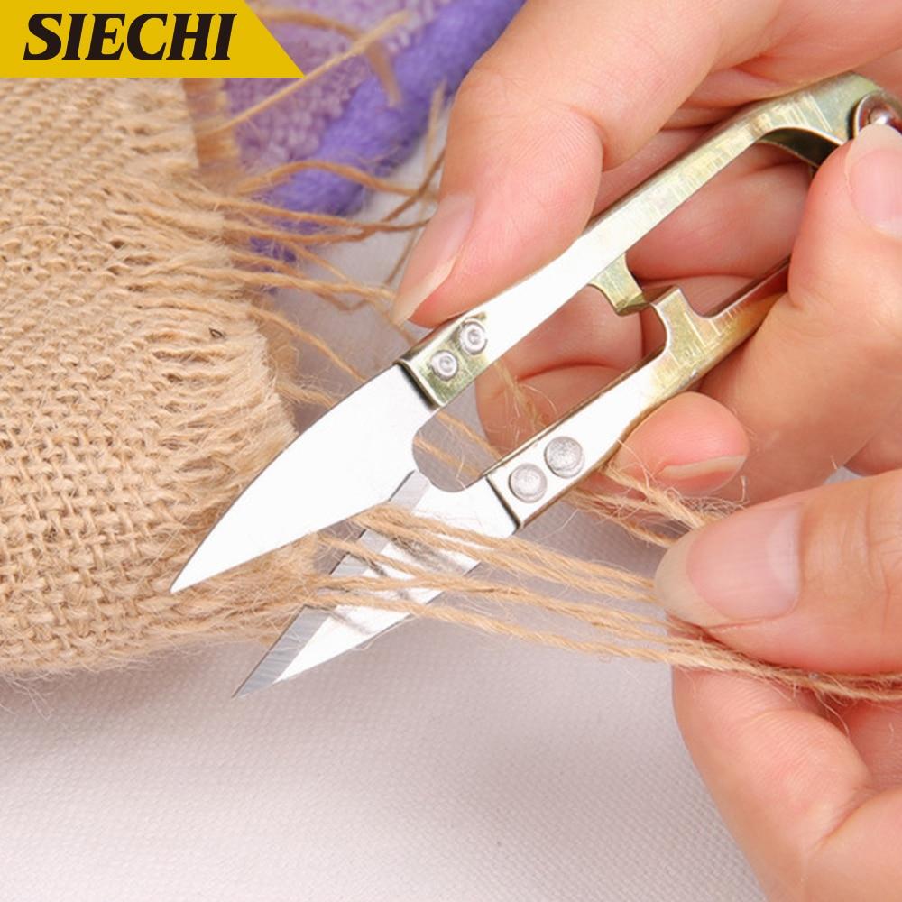 SIECHI 1pcs Stainless Steel Fish Use Scissors Accessories Mini Scissors For Fishing Sewing Scissors Fishing Line Cutter Tools