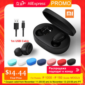 Image 1 - Xiaomi Redmi Airdots TWS Bluetooth Wireless Earphone Stereo bass Airdots 5.0 Eeadphones With Mic Handsfree Earbuds AI Control