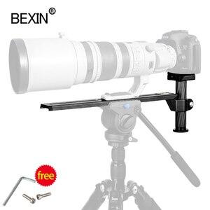 Image 5 - Telefoto lens desteği dslr quick release kamera plakası tripod alanı 50mm genişlik plaka için manfrotto dslr kamera ile 3/8 1/4 vida